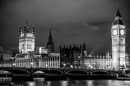 Houses of Parliament Westminster London with Big Ben Stock Photo