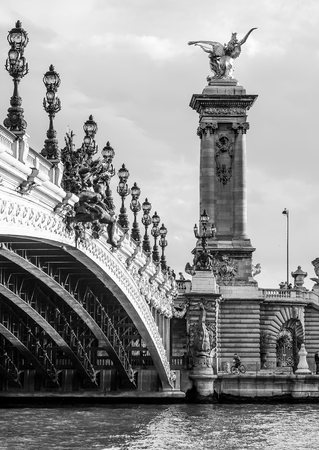 Amazing Alexandre III Bridge in the city of Paris