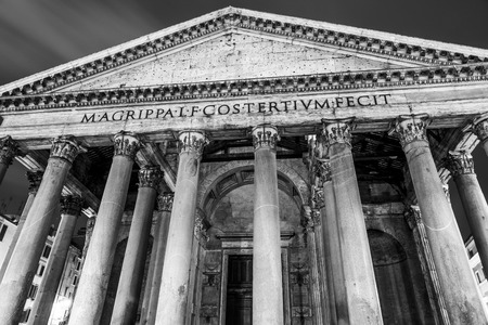 The famous Pantheon in Rome - the oldest church in the city