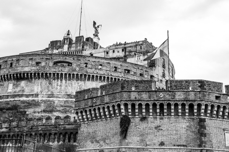 Angels Castle in Rome - The famous Castel Sant Angelo at Tiber River
