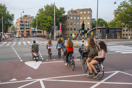 Amsterdam - a city full of bicycles - AMSTERDAM - THE NETHERLANDS - JULY 20, 2017
