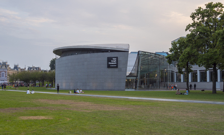 Famous Van Gogh Museum in Amsterdam - AMSTERDAM - THE NETHERLANDS - JULY 20, 2017