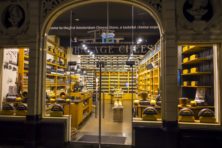 Typical cheese shop in Amsterdam - AMSTERDAM - THE NETHERLANDS - JULY 20, 2017