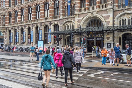 Famous Magna Plaza Shopping Mall in Amsterdam - AMSTERDAM - THE NETHERLANDS - JULY 20, 2017 Editorial