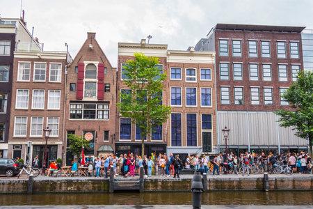 Uno degli luoghi più popolari di Amsterdam - La Anne Frank House and Museum - Amsterdam - Paesi Bassi - 24 luglio 2017 Archivio Fotografico - 85149483