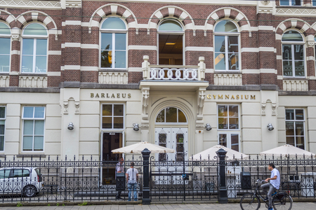 Private Grammar School in Amsterdam - AMSTERDAM - THE NETHERLANDS - JULY 20, 2017