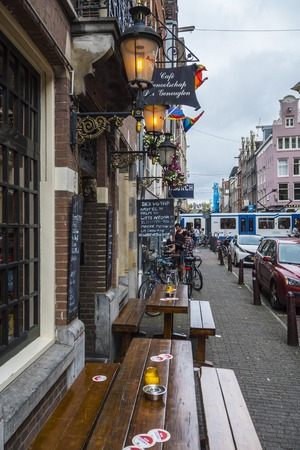 Bars in the streets of Amsterdam Editorial