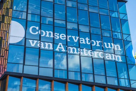 conservatory: Conservatory of Amsterdam in the city center Editorial