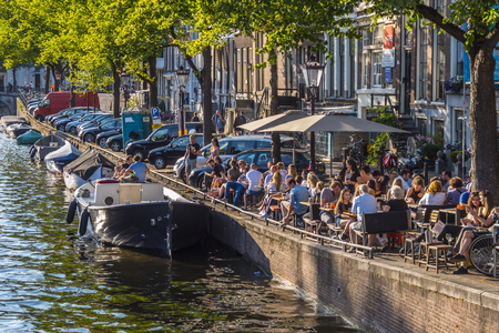 The beautiful canal area in Amsterdam - perfect place to relax