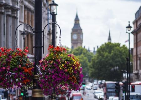 Queen Elizabeth Tower in London - street view