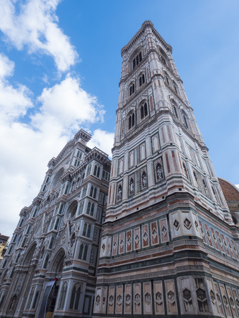 Cathedral of Santa Maria del Fiore in Florence on Duomo Square - biggest attraction in the city - Tuscany, Italy