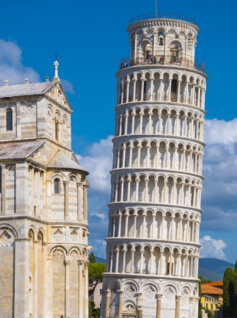 The Leaning Tower of Pisa on a sunny day - Tuscany Italy