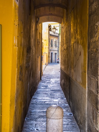 Small lane in the historic district of Pisa- Tuscany Italy
