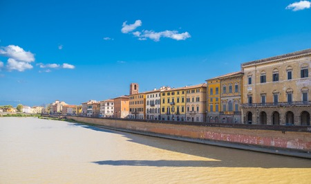 The wonderful city center of Pisa with River Arno- Tuscany Italy