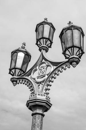 Beautiful street lantern on Westminster Brdge in London Reklamní fotografie