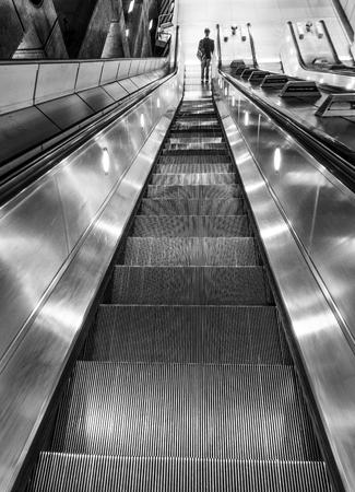 Escalator to London Underground Banco de Imagens