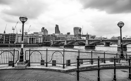 Beautiful south bank of River Thames at Southwark Reklamní fotografie