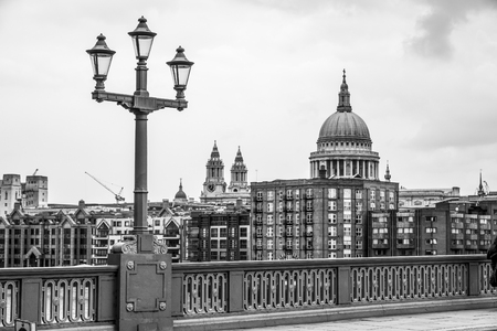 View from Southwark Bridge to St Pauls Cathedral