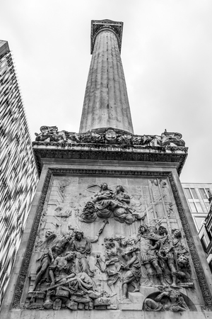 The Monument in the City of London - important tourist attraction Reklamní fotografie