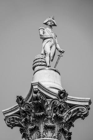 Lord Nelson Column at Trafalgar Square London Reklamní fotografie
