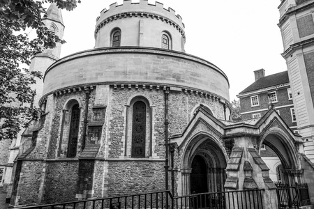 The famous Temple Church in the City of London Reklamní fotografie