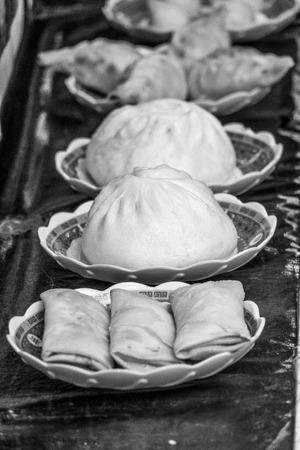 Variation of Chinese Food at Street Food Market Reklamní fotografie