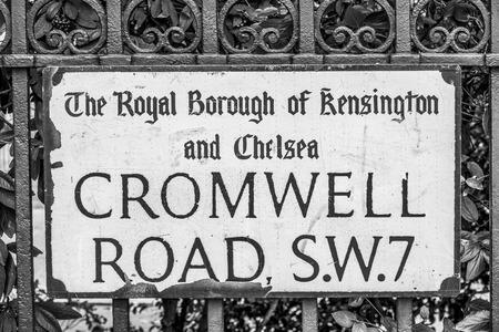 Beautiful London Street sign - Cromwell Road