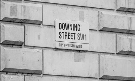 Downing street London - Office of the Prime minister - LONDON  GREAT BRITAIN - SEPTEMBER 19, 2016