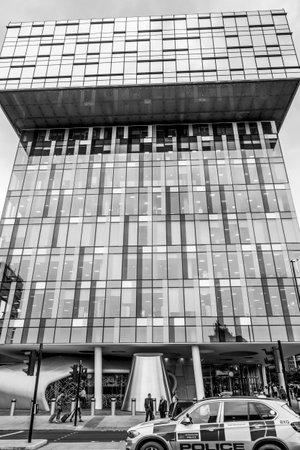 Modern building in Southwark - LONDON  GREAT BRITAIN - SEPTEMBER 19, 2016