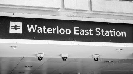 Waterloo East Station - LONDON  GREAT BRITAIN - SEPTEMBER 19, 2016