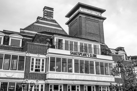 Famous Shakespears Globe Theatre in London - LONDON  GREAT BRITAIN - SEPTEMBER 19, 2016 Editorial