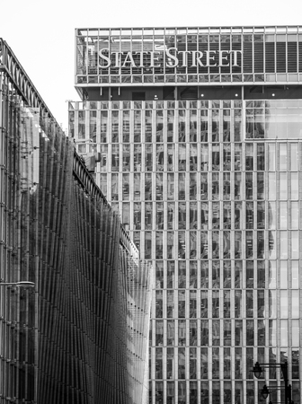 State Street Building at Canary Wharf - LONDON  GREAT BRITAIN - SEPTEMBER 19, 2016 Editorial