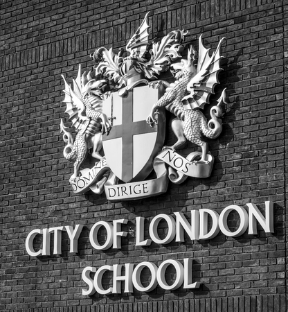 The City of London School - LONDON  GREAT BRITAIN - SEPTEMBER 19, 2016