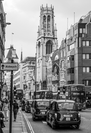 Street view in the City of London at Aldwych - LONDON  GREAT BRITAIN - SEPTEMBER 19, 2016