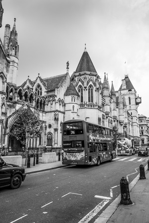 City of London Street view - LONDON  GREAT BRITAIN - SEPTEMBER 19, 2016