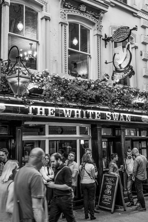 Famous Pub The White Swan at Covent Garden Westend London - LONDON  GREAT BRITAIN - SEPTEMBER 19, 2016 Editorial