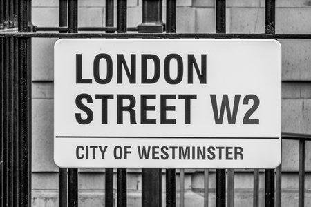 London Street in Paddington - LONDON  GREAT BRITAIN - SEPTEMBER 19, 2016