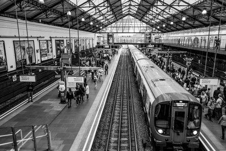 London Earls Court Station - LONDON  GREAT BRITAIN - SEPTEMBER 19, 2016
