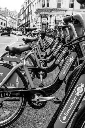 Rental bikes in London - LONDON  GREAT BRITAIN - SEPTEMBER 19, 2016