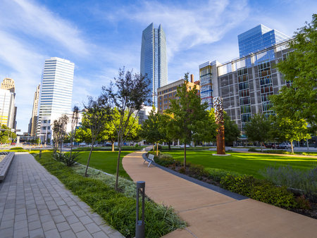 Bicentennial Park in Oklahoma City - downtown district