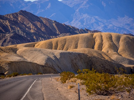 Beautiful scenery route through Death Valley National Park in California