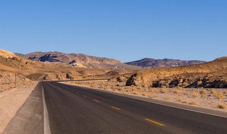 Scenic road in the desert of Nevada - Death Valley National Park