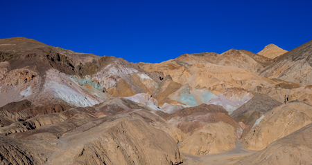 Beautiful colors of Death Valley in California - the Artists Palette Stok Fotoğraf