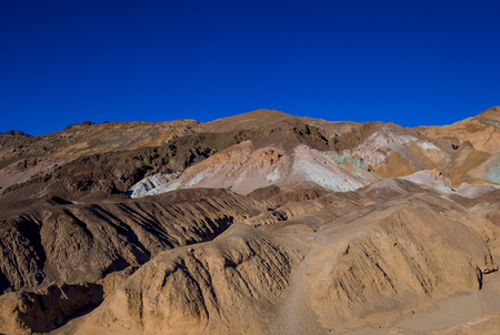 Colorful rocks at Death Valley - Artists Palette stones