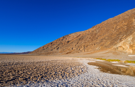 Beautiful scenery at Death Valley National Park California - Badwater salt lake Stok Fotoğraf