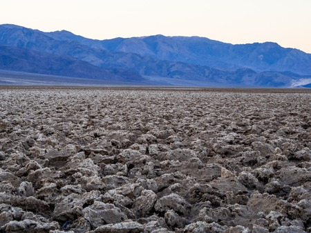 The crusty landscape of Devils Golf Course at Death Valley National Park