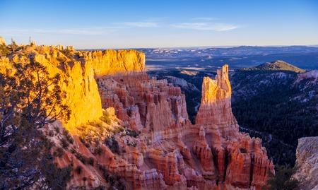 Wonderful Scenery at Bryce Canyon National Park in Utah Stock Photo