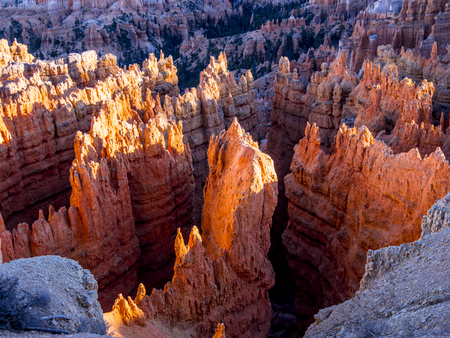 The red cliffs of Bryce Canyon National Park in Utah Banco de Imagens