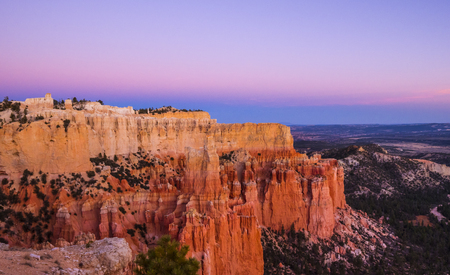 Wonderful Scenery at Bryce Canyon National Park in Utah Stock Photo