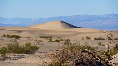 Beautiful Mesquite Sand Dunes at Death Valley California Stok Fotoğraf